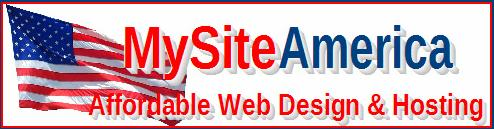 MySiteAmerica - Affordable Web Design & Hosting Banner